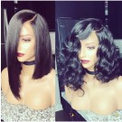 Emily18- Brazilian virgin straight/wave bob 360 lace frontal wig
