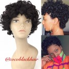 Carla- Machine made short curly hair for summer
