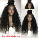 Emily19- Brazilian virgin water wave 360 lace frontal wig