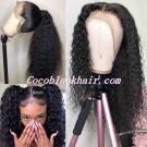 Jody02-wet curly 370 wig pre plucked Brazilian virgin human hair