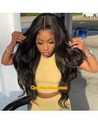 【50% Off】Paris-HD lace front wig Brazilian virgin human hair glueless wig 4 inch long part Pre plucked hairline
