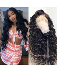 Nova 07-Beachy wave Brazilian virgin 13x6 wig glueless lace front Pre plucked hairline
