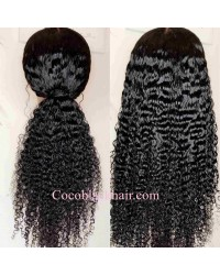 Nova-Deep curly Pre plucked Brazilian 150% density 13x6 glueless lace front wig