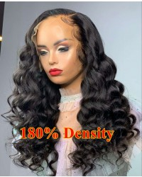 Narda-180% density stock 13x6 HD lace front glueless wig Brazilian virgin human hair Pre plucked hairline