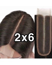 2x6 lace closure Brazilian virgin silk straight