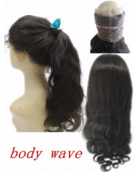Brazilian Virgin body wave 360 Lace Frontal