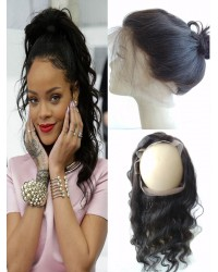 Brazilian Virgin natural wave 360 Lace Frontal