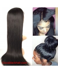 Emily- Brazilian virgin straight 360 lace frontal wig