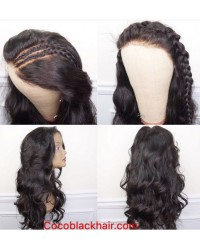 Emily06-Brazilian virgin loose wave 360 lace frontal wig