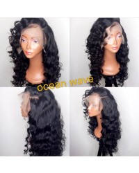 Emily07-Brazilian virgin ocean wave 360 frontal wig