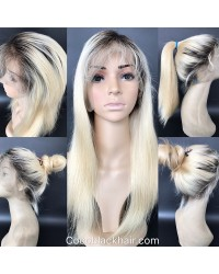 Emily08- Brazilian virgin ombre straight 360 lace frontal wig
