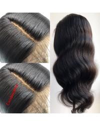 Emily30-Brazilian virgin yaki body wave 360 lace frontal wig