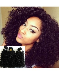 Chinese virgin 3 bundles curly hair weaves
