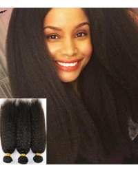 3 bundles kinky straight machine wefts Chinese virgin
