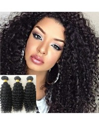 Malaysian virgin 3 bundles curly hair weaves
