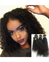 Chinese virgin 4 bundles curly hair weaves