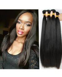 Chinese virgin 4 bundles silky straight hair weaves