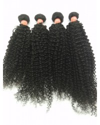 Brazilian virgin 4 bundles curly hair weaves