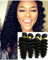 Chinese virgin 4 bundles deep wave hair weaves