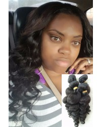 Malaysian virgin 4 bundles loose wave hair wefts