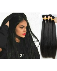 Malaysian virgin 4 bundles silky straight hair weaves