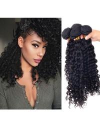 Malaysian virgin 4 bundles curly hair weaves