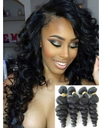 Mongolian virgin 4 bundles loose wave hair wefts