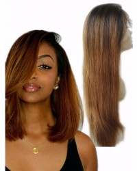 Vivien- Chinese virgin yaki straight ombre full lace wig