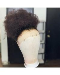 Emily52-Pre plucked Brazilian virgin tiny curly 360 wig