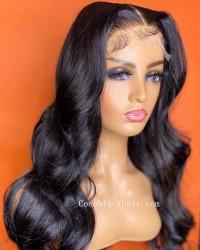 Angela 03-5x5 HD lace closure wig Body Wave 9A grade Brazilian virgin human hair 150% density