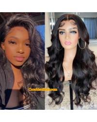 Angela 03-5x5 HD lace closure wig Body Wave 10A grade Brazilian virgin human hair