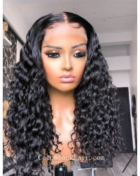 Angela 05-5x5 HD lace closure wig middle parting curl 10A grade Brazilian virgin human hair 150% density