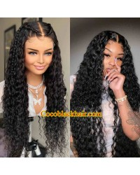 Angela 05-5x5 HD lace closure wig curl wave Brazilian virgin hair