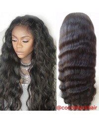 Addy- Brazilian virgin natural wave 150% density glueless full lace wigs