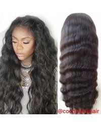 Addy- Brazilian virgin natural wave 150% density glueless full lace wigs