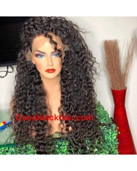 Emily16-Brazilian virgin African wave 360 lace frontal wig