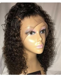 Emily28-Brazilian virgin African curly 360 lace wig