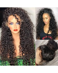 Emily16-Brazilian virgin African wave 360 wig