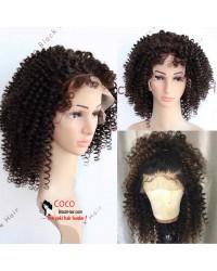 Emily40-Pre plucked Brazilian virgin Afro curl 360 wig