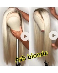 Emily44-Pre plucked Ash blonde 360 wig