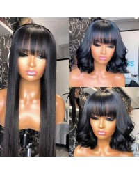 Emily56-Brazilian virgin bang hair 360 wig