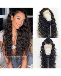 Jody10-Beachy wave 370 wig pre plucked Brazilian virgin human hair