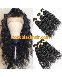 Brazilian virgin 3 bundles beachy wave machine wefts