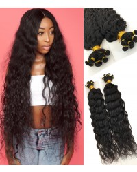 Brazilian virgin loose deep curly hand tied wefts