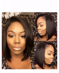 Belle-Indian virgin Bob short hair full lace wig