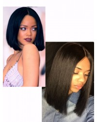 Bola- Indian remy Bob wig with middle parting
