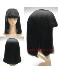 Tess- Indian remy bob hair with bangs full lace wig