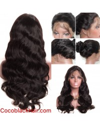 Emily11- Brazilian virgin body wave 360 lace frontal wig