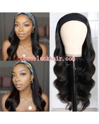 Rudy 09-Headband wigs body wave Brazilian virgin human hair 150% density