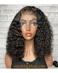Emily64- bomb Deep wave pre plucked Brazilian virgin 360 wig